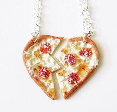 Yummy You! x Fatally Feminine Designs BFF Pizza Heart Necklaces