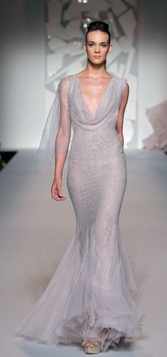 Lavender evening gown by Abed Mahfouz Fall Winter Haute Couture 2012 Collection