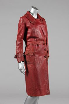 A Prinscrome lady's red leather motoring coat, late 1920s, Kerry Taylor Auctions