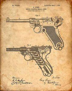 1932 M1 Garand Semiautomatic Rifle Print Artwork Gun Enthusiast Gifts WW2 30 CAL