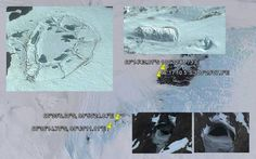 Observations of aerial silver discs darting around over the Transantarctic Mountains and a big hole in the ice only a few miles from the geographic South Pole. Alien Sightings, Ancient Ruins, Founded In, Illuminati, Continents, Ufo, Weird, Earth, Strange Things