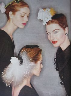 Vogue Nov 1954 Elsa Martinelli, Candy Tannev and Nancy Berg by Clifford Coffin