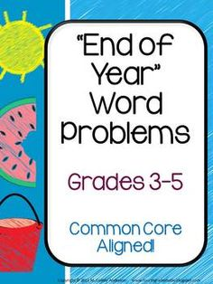 Looking for a great end of year math challenge? This set of 20 mixed operations word problems reflects the CCSS for grades 3-5. Problems are included in THREE formats: -with multiple copies on a page to be cut out and glued into a math journal -on reproducible pages to use as practice sheets (4 problems per page) -and on full sheet pages that give work space for one problem, a place for students to write matching equations, and a lined area for students to explain their work! $4.95