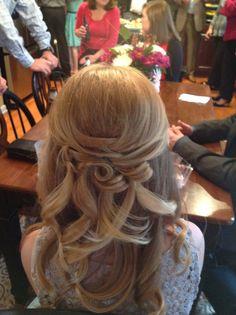 Hanna's hair for wedding