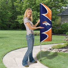 Swooper Flag with Pole - Denver Broncos