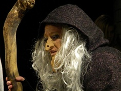 we could do the large nose as part of the mask, so it can be removed when witch turns back into beautiful woman