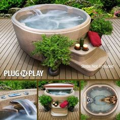 Small Hot Tub for 3-4 people! This might be perfect for your tiny house. | Tiny Homes