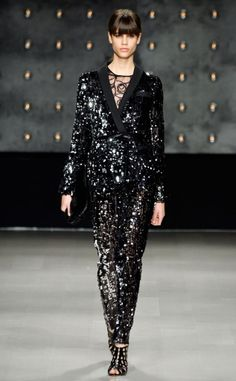 Milly's Fall 2014 show was full of amazing fashion, but this sequined suit stole the show!