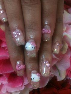 hello kitty fingernails 3