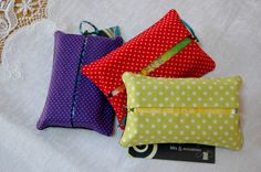 Polka Dot Matching Tissue Totes by MistyMeadowTreasures on Etsy