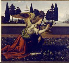 Leonardo da Vinci - L'Annunciazione Gabriel (1472-75)