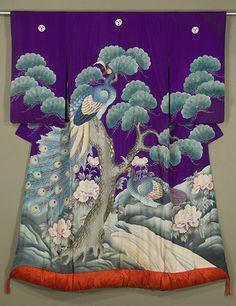 Peacock wedding kimono, K-9892, Japanese Uchikake