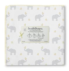 Amazon.com: SwaddleDesigns Elephant and Chickies Ultimate Receiving Blanket, Cheerful Yellow: Baby