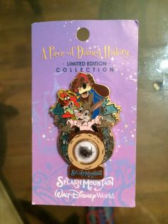 Piece of Disney History Pin WDW Splash Mountain Le 2500 RARE on Card | eBay
