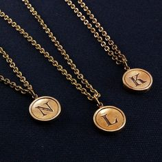 Letter J Necklace  Bronze Initial Typewriter Key by GwenDelicious, $29.00