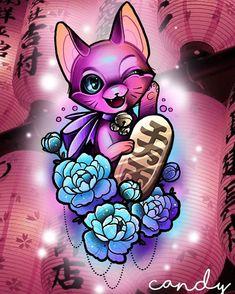 #maneki #neko #tattoo #design #sweet