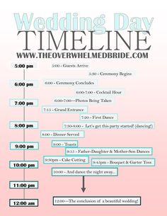 "http://www.theoverwhelmedbride.com ""Your Wedding Day Timeline"""