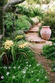 Designing slope garden