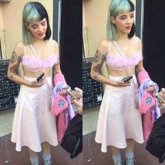 I love this outfit. Melanie Martinez Outfits, Crybaby Melanie Martinez, Cry Baby, Celebs, Celebrities, Her Style, Beautiful People, Two Piece Skirt Set, Female