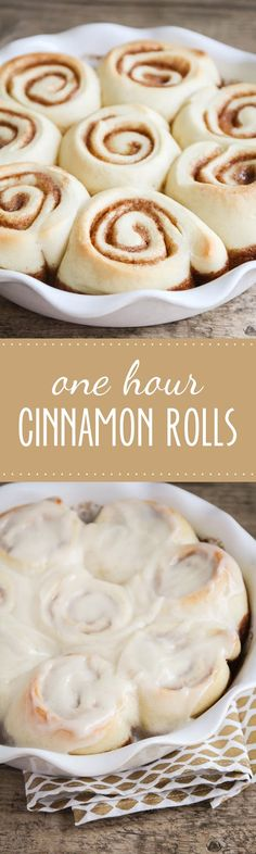 These delicious cinnamon rolls are ready in one hour and taste amazing!