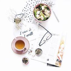 food • flatlay • salad • magazine • tea      | i n s t a: @mrsGasky