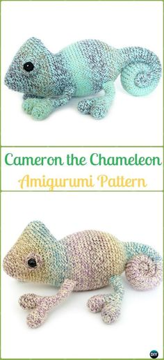 Amigurumi Crochet Cameron the Chameleon Paid Pattern - Crochet Chameleon Amigurumi Softies Toy Patterns