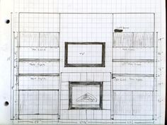 Simple but very detailed and effective drawing for floating cabinets and floating shelves provided by client for a project in the Upper Kirby area.
