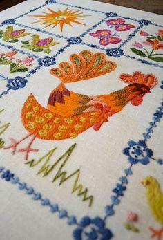 Vintage Embroidered Linen
