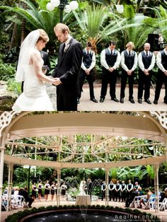 Atrium #garden #wedding ceremony at the Gaylord #Opryland Resort. Photo credit: Heather Cherie Photography