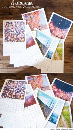 Pin for Later: 20 Free Printable 2015 Calendars to Ring In the New Year Insta-Calendar Customize each and every month with one of your favorite Instagram snaps!