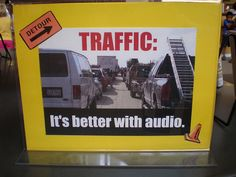 Audio Book Display  Traffic; long trips...