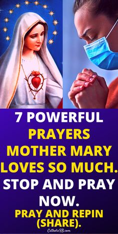 7 Powerful Prayers Mother Mary Loves so Much. Stop and pray now. #Mother #Mary #God #Jesus #catholicfaith #September2020 #Prayerinspiration #Powerful Lent Prayers, Easter Prayers, Bible Prayers, Catholic Prayers, Holy Week Prayer, Christmas Prayer, Powerful Prayers, Miracle Prayer, Inspirational Prayers