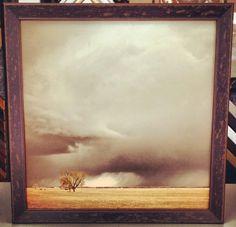 Custom framed canvas using @Larson-Juhl's Vermont shadowbox line. Beautiful! Custom framed by FastFrame of LoDo. #art #framing #denver #colorado #canvas