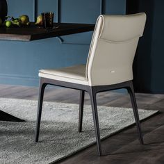 Sofia leather upholstered wooden chair - DIOTTI.COM Marble Furniture, Small Furniture, Modern Furniture, Furniture Design, Italian Furniture Brands, Furniture Manufacturers, Chair Design, Home Furnishings, Modern Design