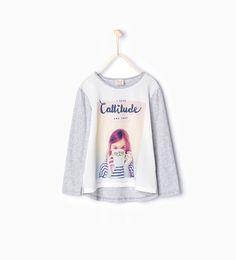 Image 1 de T-shirt imprimé de Zara