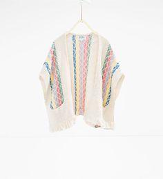 ZARA - SALE - Twist knit poncho
