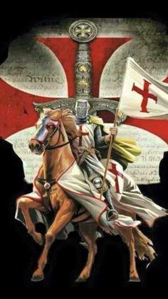 Medieval Knight, Medieval Fantasy, Templar Knight Tattoo, Crusader Knight, Christian Warrior, Angel Warrior, Knight Art, Knight In Shining Armor, Dragons