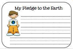 Science-This writing activity could be used around Earth day. Each student would write their own pledge to the Earth and they would go on a bulletin board in the classroom or hallway.