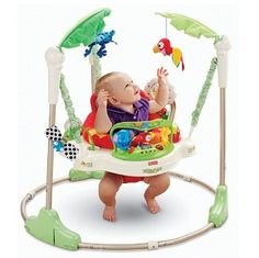 Fisher Price Rainforest Jumperoo Baby Jumper Bouncer Play Learn Tots Toddler NEW Infant Activities, Fun Activities, Brinquedos Fisher Price, Baby Activity Jumper, Best Baby Bouncer, Organiser Une Baby Shower, Motif Jungle, Baby Swings, Activity Centers