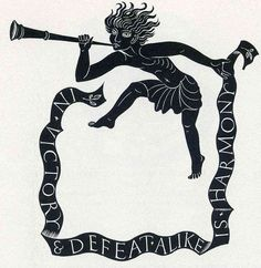 Eric Gill - In Victory and Defeat Alike is Harmony