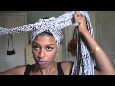 great head wrap tutorial when you want to give your curls a break