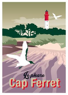 Affiche Cap Ferret, le phare