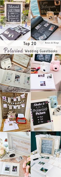 Unique Polaroid Wedding Guestbook Ideas #weddings #weddingideas #vintagewedding