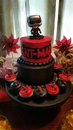 Free Marvel Antman Cupcake Toppers And Decorations