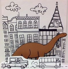 """""""If the dinosaurs came back"""" created by Gizelle92 at Applegate Elementary School"""