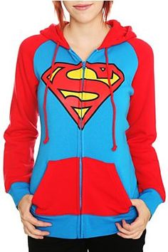 This would be cool for the movie premire.  DC Comics Superman Logo Hoodie - 180430
