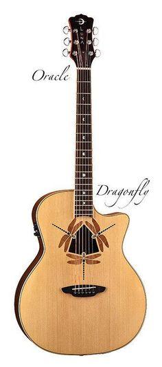 Luna Oracle Dragonfly Acoustic Electric Guitar #guitartutorials #vintageguitars