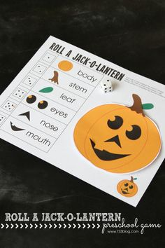 LOVE this idea - Roll a Jack-O-Lantern Preschool Game! Great #Halloween activity! #prek (repinned by Super Simple Songs)