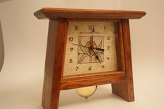 Mission Style Mantle Clock by Woodwynde on Etsy Doorbell Cover, Craftsman Furniture, Clock Art, Mantle Clock, Wood Clocks, Craftsman Style, Home Crafts, Home Accessories, Vintage Clocks