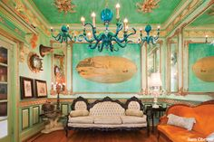 my friend from high school #adamwallacavage and his amazing house I am lucky enough to have been able to enjoy his eclectic sense of style and home decoration or rather ornamentation.  check out his webpage